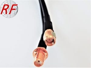 SMA male to SMA female coax cable assembly using CLF195