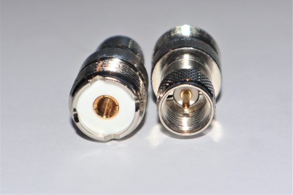 Mini UHF Plug to UHF Jack Adapter