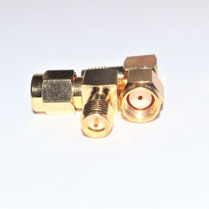 Reverse Polarity SMA Male to RP SMA Female Right Angle Adapter